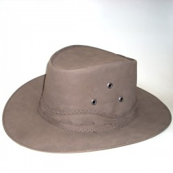 HAT OF NOBUK LEATHER